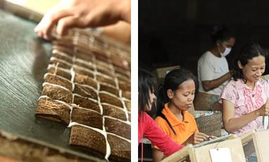 Cocomosaic Natural Mosaic Tiles Coconut Shell Mahogany